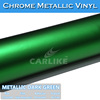 CARLIKE New Arrival Dark Green Chrome Matt Car Body Vinyl Wrap Film