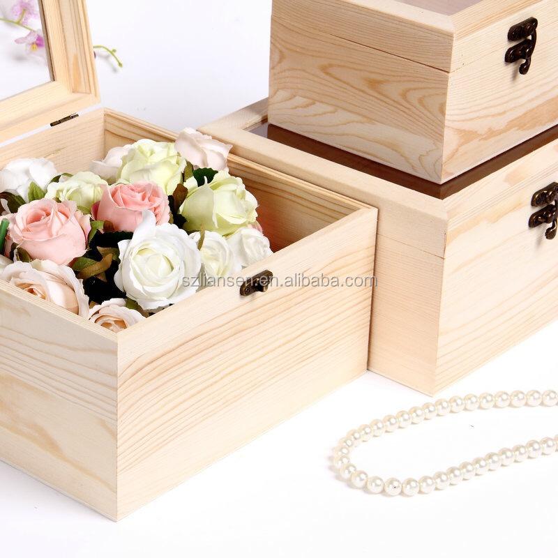 LIANSEN треугольная квадратная форма натуральный цвет фанера деревянная коробка