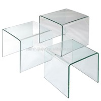 High quality modern nesting tables glass cafe table