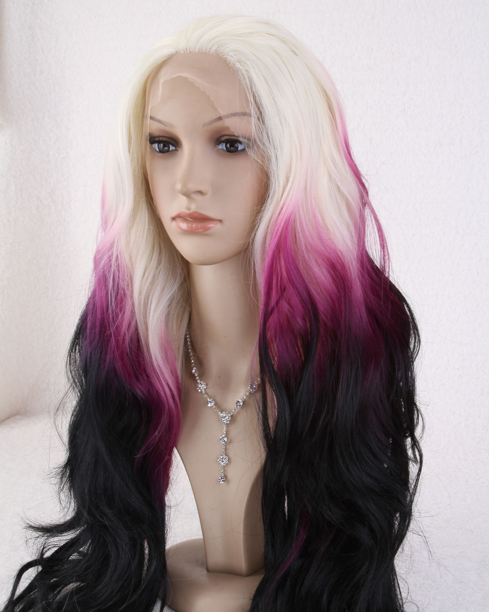 Long Anime Hairstyles For Girls: WigShow 2015 New Arrival 28 Inch Ladies Lace Front Long