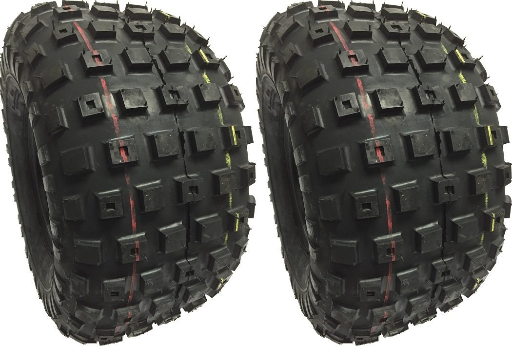 (2) TWO 25x12-9 NEW DURO HF240A KNOBBY ATV 4PLY TIRES TUFF DUTY TREAD 25129