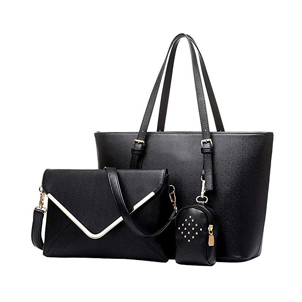 3 pcs Trendy set PU bag elegant Women handbag with shoulder bag <strong>Totes</strong>