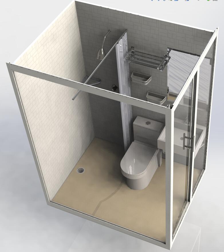 Ready Made Modular Bathroom Shower Unit