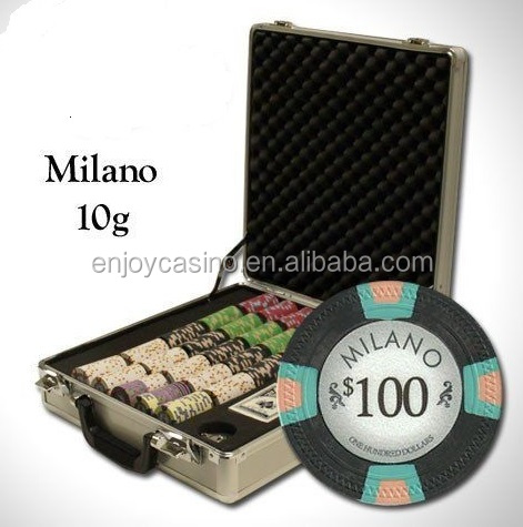 NIEUWE 500 PC Milano Pure Klei 10 Gram Poker Chips Set