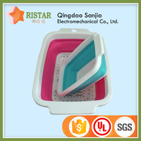 Useful food grade kitchen handle Plastic Basket