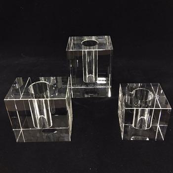 Various Size Crystal Block Vaseheavy Crystal Vase Wholesale Buy