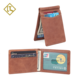 Free shipping vintage designer oil wax leather money clip minimalist mens slim rfid smart card holder wallet genuine leather