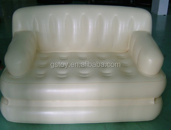 PVC white inflatable double recliner sofa bed
