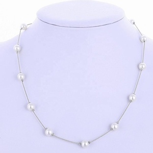 HUSURU hot selling fresh pearl pendant necklace collar 60 inch long pearl necklace