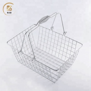 2018 new Supermarket square fruit and vegetable metal storage metal basket