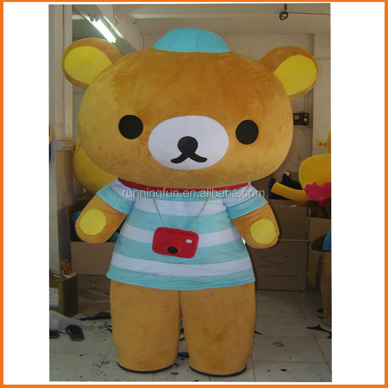 Hot!! CE used cartoon character rilakkuma mascot costumes,mascot costumes china