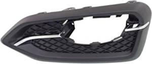 Crash Parts Plus Black and chrome Passenger Side Fog Light Trim for 14-15 Honda Civic HO1039121