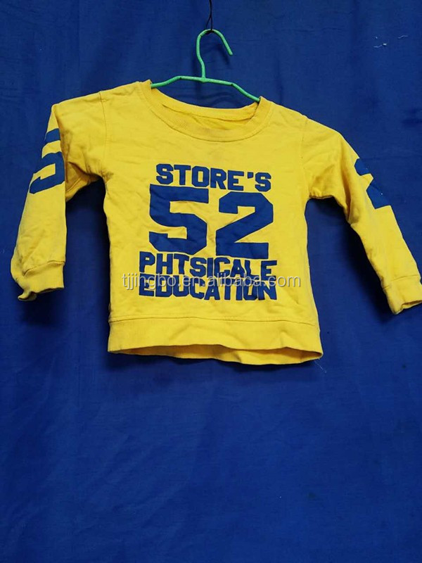 top high quality reasonable price bulk used children clothing kids T-shirts
