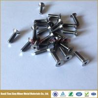 DIN 7991 Flat Head Allen Key titanium bolt with low weight