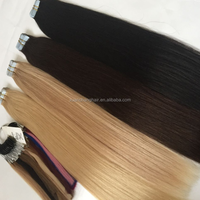 raw indian virgin hair adhesive tape used skin weft hair extension