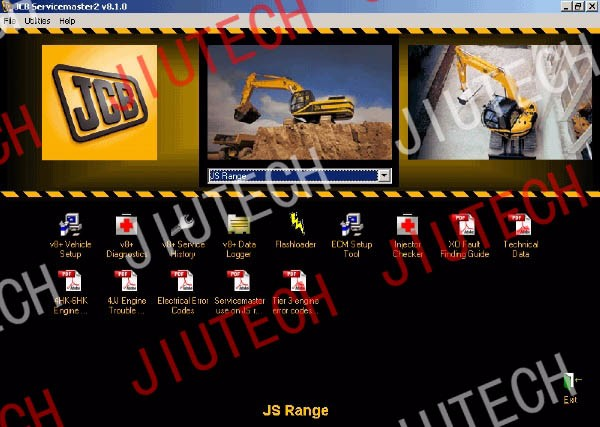 excavator diagnostic tool for JCB heavy duty truck diagnostic scanner Service Master diagnostic tool