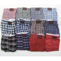 Men's yarn dyed stripe loose 100% cotton boxer shorts