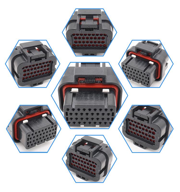4-1437290-1 34 Pin Female Automotive MOTEC ECU Connector