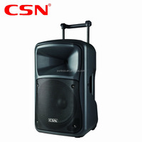 OEM Service professional big power active 45W portable BT wireless trolley usb karaoke speaker