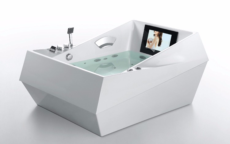 Hydromassage Bathtub / 2 Person Spa Bath / Freestanding Bath Tub With  Heating Thermostat System