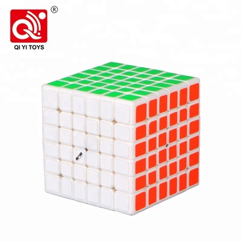 Wuhua V2 6*6 67mm iq game plastic white cubes with smaller size