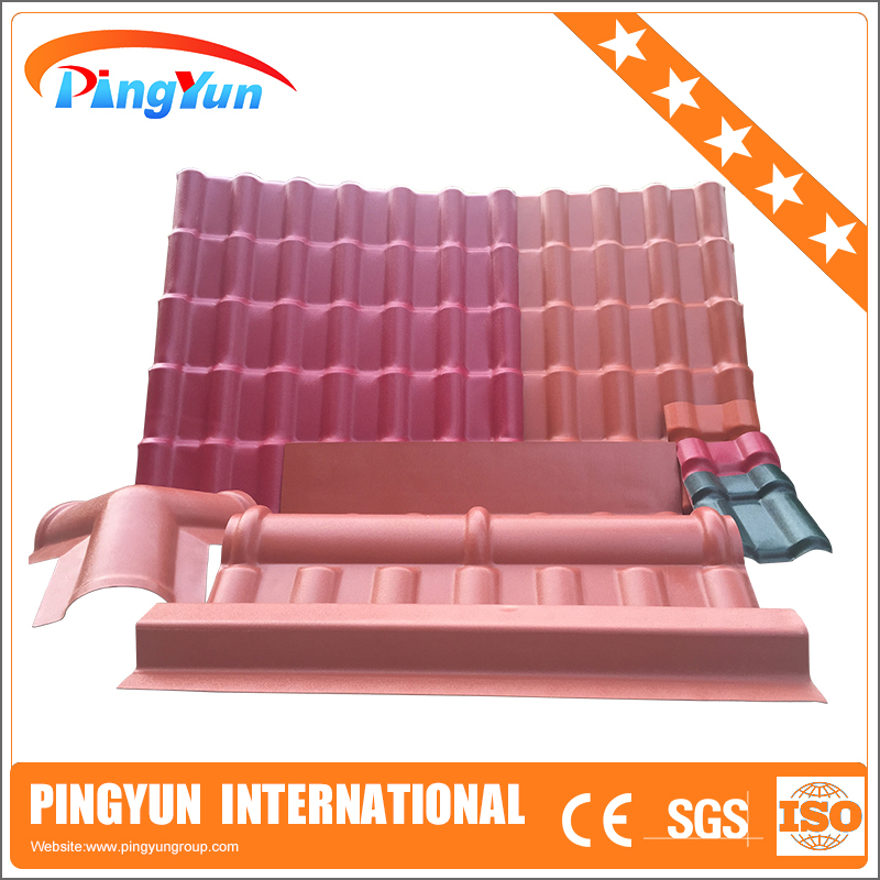 Synthetic Terracotta Roof Tile Upvc Raw Material For