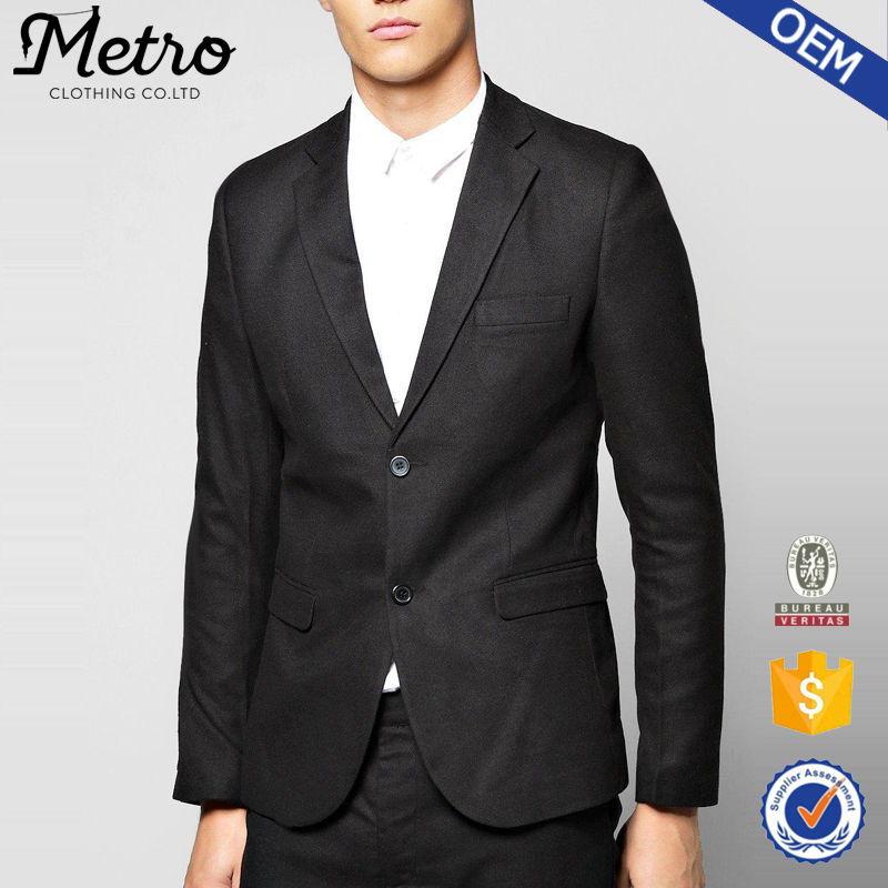 Poliéster Skinny Fit Tailored Terno Mens Jaqueta Blazer Barato