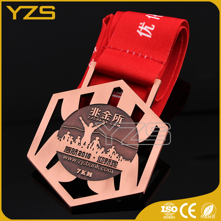 Factory custom zinc alloy metal gold silver bronze military medal
