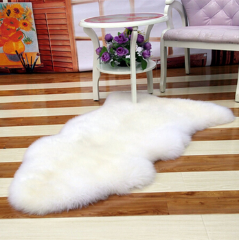 Chinese Supplier Artificial White Wool Sheep Skin Rugs For Living Room