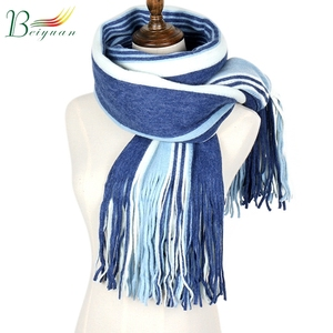 New Chic Autumn And Winter Knitwear Lovers Simple Fashion Muffler Stripe Scarf