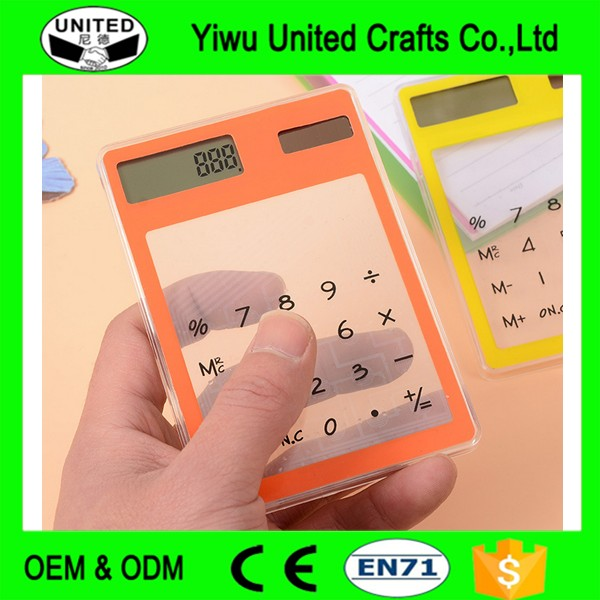 Lustig Mini Cute schüler transparente Solar Scientific Calculator
