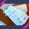 anti-fake Receipt security ticket hot stamping voucher