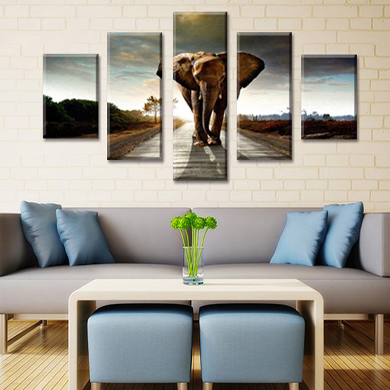 Elefante pittura acquista a poco prezzo elefante pittura for Pittura moderna soggiorno