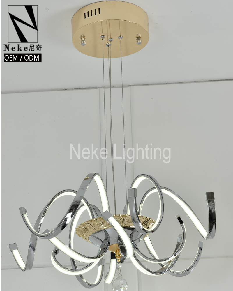 Chinese modern silver led lamparas de techo for hall decoration