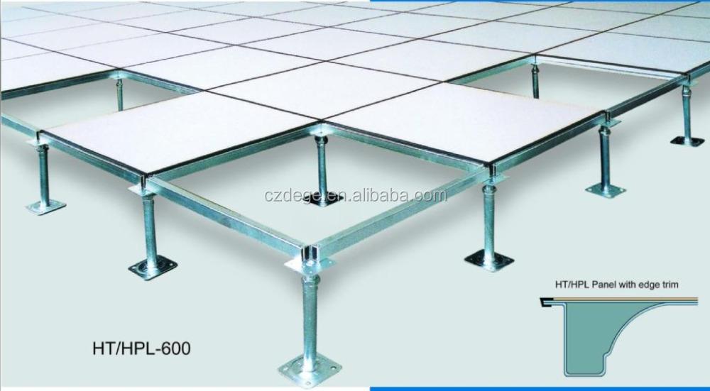 Hpl Finish Perforated Steel Data Center Raised Floor Tiles