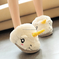 Hot sale Unicorn Plush slippers Soft Cute Design Flip Flop new design cute indoor shoes plush unicorn slipper