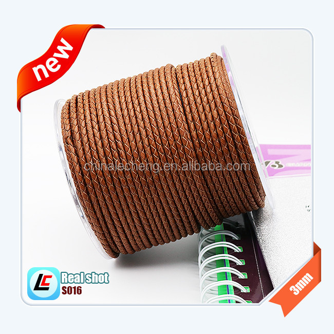 Top Quality Braided Leather Cord 5mm  Genuine Real Leather