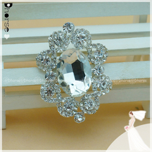 Wholesale cheap Large stone Crystal Vintage Flower Brooch DHB177