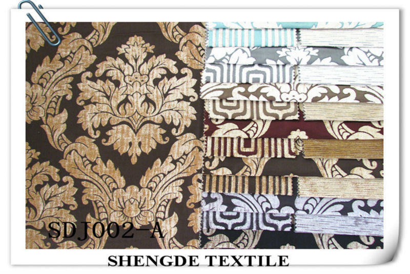 High quality chenille jaquard sofa fabric