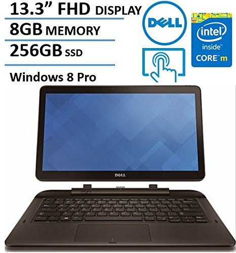 "DELL Latitude 7000 13.3"" FHD IPS Touchscreen 2 in 1 Ultrabook/Tablet Computer, Intel Dual Core M-5Y71 1.2GHz, 8GB RAM, 256GB SSD, USB 3.0, 802.11ac, Windows 8.1 Professional (Certified Refurbished)"