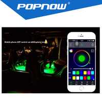 new design colorful mobile APP led car interior light with several colors changing