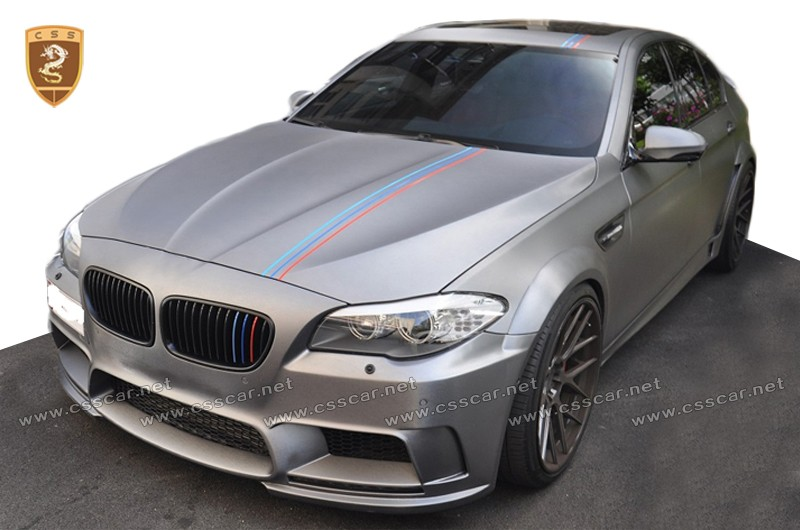 for bmw 5 series f10 m5 change to hm style wide body kit in frp material wholesale china. Black Bedroom Furniture Sets. Home Design Ideas