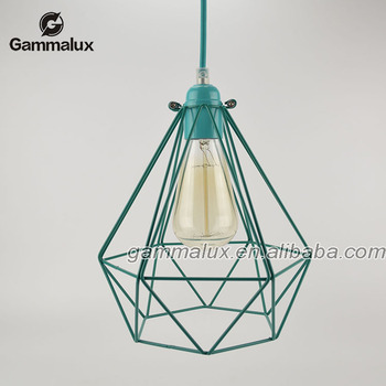 Cyan diamond iron bird cage pendant lamp cyan lamp shade buy bird cyan diamond iron bird cage pendant lamp cyan lamp shade aloadofball Image collections