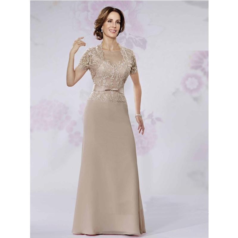 Elegant Lace Sleeve Short Wedding Dresses 2016 Scoop Neck: Fashion Arrival A Line Scoop Neck Formal Evening Dress