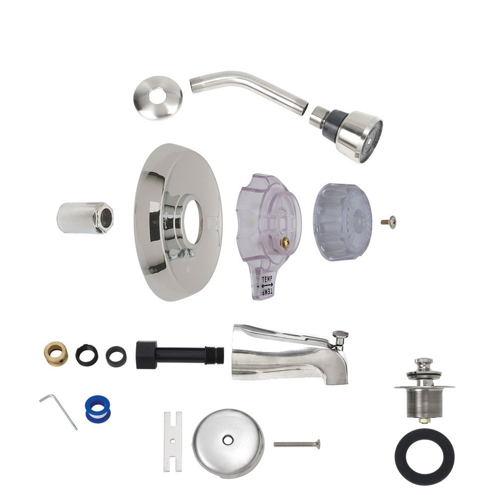 BrassCraft Mfg Mixet #MTR-5 CLR Complete Single Handle Tub and Shower Trim Kit - Chrome