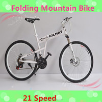 2015 Fashion style promotion folding mountain bike/mountain bicycle/mountain cycling with 21 speed ,made in China