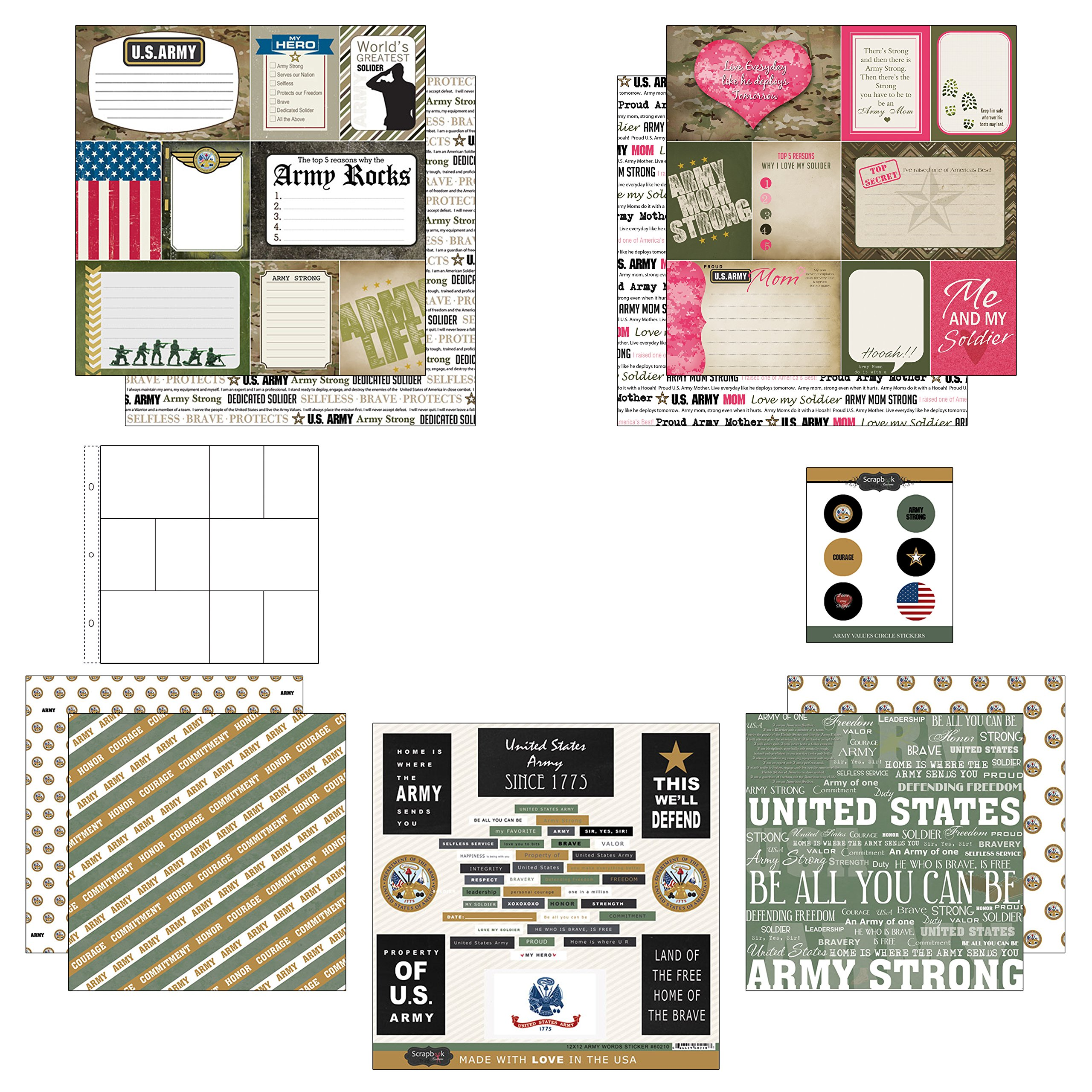 Scrapbook Customs Themed Paper and Stickers Scrapbook Kit Track /& Field Journal