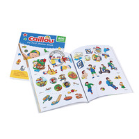 child coloring book with cartoon stickers custom children cartoon sticker book printing