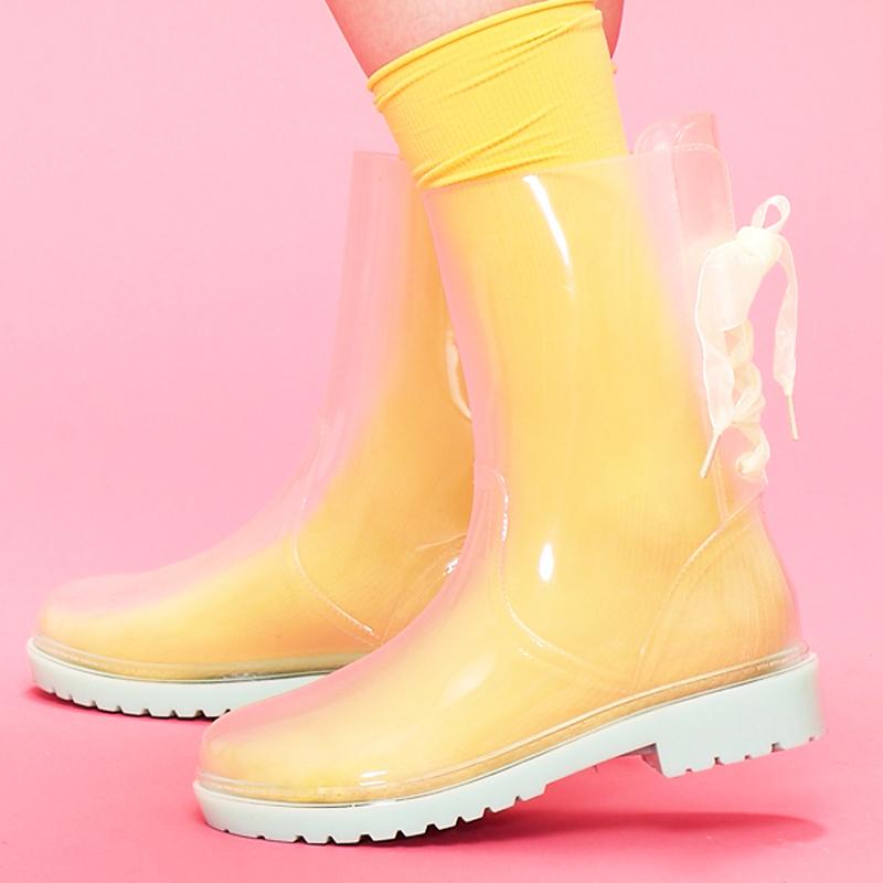 Sunflower Clear Rain Boots,China Transparent Rain Boots Women ...