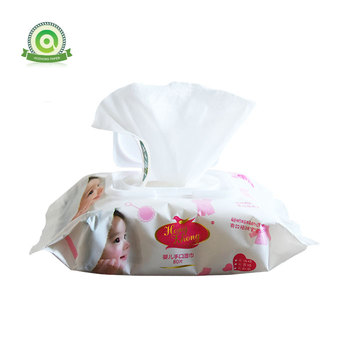 China custom logo hand and face cleaning wet wipes tissue for baby